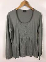 CLARK ROSS Damen Shirt, Größe L, grau, 100% Pima Baumwolle