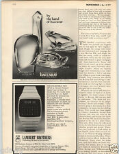 1977 PAPER AD HP-01 Hewlett Packard Calculator Wrist Watch Baccarat Crystal