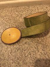 BNWOT Cheryl Dufault Rare Custom Artisan Leather Belt & Cross Buckle Cowgirl 36