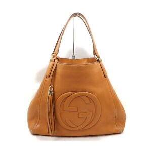 Gucci Tote Bag  Oranges Leather 2200860