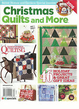 CHRISTMAS QUILTS AND MORE, ISSUE, 2016  46 HOLIDAY PROJECTS & GREATS GIFTS IDEAS
