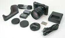 Samsung NX210 20.3MP Digital Camera - Black Kit w/ OIS 18-55mm Lens & half case