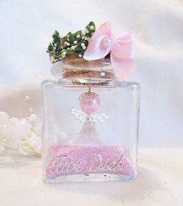 1 Weiss-Rosa-Schutzengel im Glas FÜR DICH,Geburtstag,Hochzeit,Geburt,Taufe,
