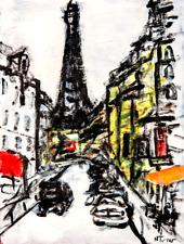 Eiffel Tower Paris Original Oil Painting Modern French Art Neal Turner NR