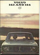VOLVO 142 AND 144 SALES BROCHURE 1967 1968