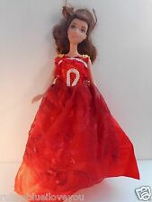 Doll Clothes for Barbie Dress Red White Lace