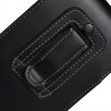 For iPhone 8 8 Plus Black Vertical Leather Belt Clip Case Cover Good For Tradies