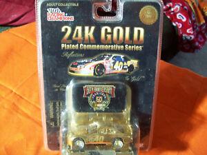 STERLING MARLIN 1 of 9998 24K GOLD 1/64 car with MEDALLION #40 NASCAR