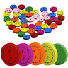 100Pcs 2 Holes Mixed Round Wooden Buttons Sewing Craft Scrapbook Decorative Well