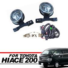 Chrome Driving fog lights lamp&Wiring For TOYOTA Hiace200 Commuter Van 2005-2009