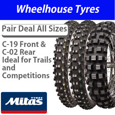 Mitas C-19 Front & C-02 Rear Motorcycle Tyre (Ideal for Trail Riding)