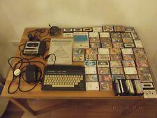 Commodore Plus 4 Vintage computer manuals cassette player LARGE BUNDLE OF GAMES