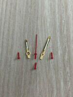 Gold/Rot ETA Valjoux 7750 NOS Style Zeigerset Chronograph Retro