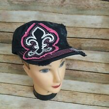 Rain Bow Women Embroidered Embellished Hat 100% Cotton