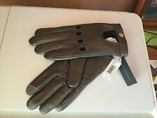 NWT Banana Republic Metallic 100% Lamb Leather Moto Texting Gloves Size L $79.50