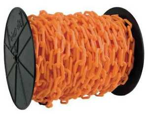 "Mr. Chain 30112 1.5"" (#6, 38 Mm.) X 200 Ft. Orange Plastic Chain"