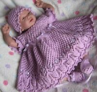 Honeydropdesigns * Lilac n Lace * PAPER KNITTING PATTERN * Reborn/Baby
