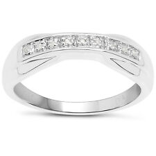 Sterling Silver 6mm width Channel Set Diamond Eternity Ring Size IJKLMNOPQRSTUVW