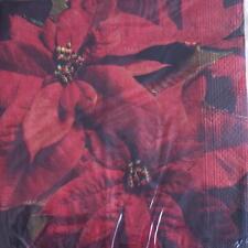 XMAS PAPER NAPKINS / SERVIETTES PACK OF 20 CHRISTMAS SMALL SANTAS DESIGN 3PLY