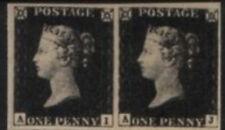Penny Black Mi Nr 1 erste Briefmarke der Welt waagerechtes Paar Großbritannien