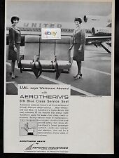 UNITED AIR LINES 1965 AEROTHERM'S 619 BLUE CLASS SERVICE SEATS ON B727-100 AD