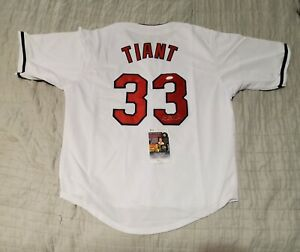 Red Sox LUIS TIANT Signed Autographed custom Jersey PSA COA XL