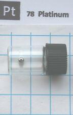 0.24 gram 99,95% Solid Platinum Metal Pellet in vial - Pure element 78 sample
