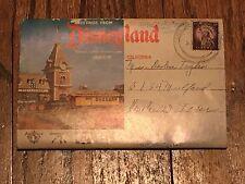 RARE Vintage 1955 DISNEYLAND Postcard Booklet Davy Crockett Museum TWA Rocket