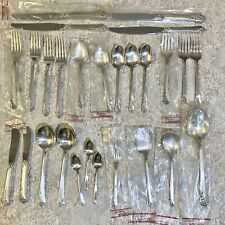 27 Pieces Oneida Heirloom Sterling ~  Damask Rose Silverware - 10 New in Packs!