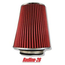 """Red Universal Cone Truck Cold Air Filter Replacement (4"""" / 102 mm) Inlet"""