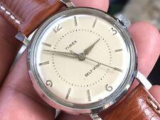 Vintage 1960 Timex Viscount Series Auto Mechanic Men's Watch Serviced New Strap