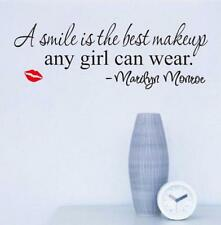 Marilyn Monroe Smile Quote Words Vinyl Wall Stickers Art Mural Home Decor Decal