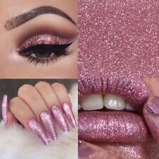 Rose Gold Pink Glitter Chrome Mirror Fine Pigment Effect Nail Powder Gel Dust UK