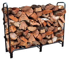 Wc018 Black 152cm L Outdoor Shed Steel Fire Wood Rack 500kg Capacity