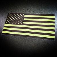 American Flag Green - Sticker