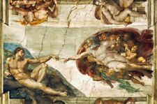 PRINT PAINTING! REPRODUCTION! CANVAS! 'THE CREATION OF ADAM' BY MICHALEANGELO!