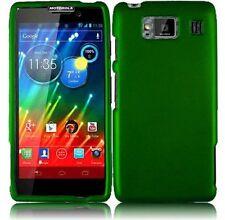 Hard Rubberized Case for Motorola Droid RAZR Maxx HD XT926M - Dark Green