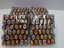 Lot 48 Oval Wooden Stretch Elasitic Religious Bracelet Jesus Angel Mary