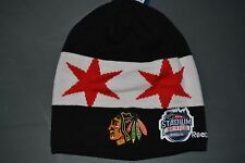 Reebok NHL Stadium Series Chicago Blackhawks Beanie Knit Winter Hat Toque NWT