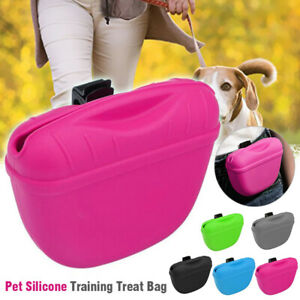 Pet Training Treat Bag Silicone With Clip Waist Pack Feeding Dogs Pouch