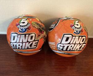 Zuru 5 Surprise Dino Strike Ball Bundle Of 2 Series 1