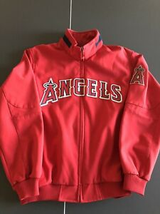 Anaheim Angels Majestic Authentic Collection Therma Base Jacket Large Preowned