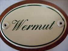 Kräuterschild Kräuterstecker Pflanzschild Emaille Emailschild Wermut 25cm