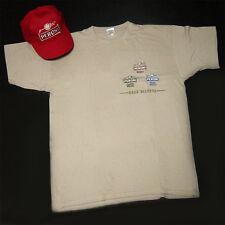 Kit t-shirt + cappellino birra peroni beige taglia L idea regalo collezionismo