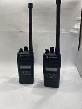 Lot Of 2x Motorola Cp185 Two Way Radio Vhf 136 175mhz Aah03kef8aa7an Withba