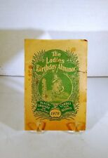 Vintage 1972 The Ladies Birthday Almanac ~ published in Chattanooga TN