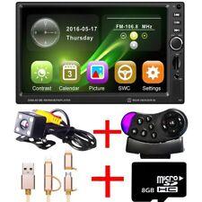 "7"" 2Din Car Stereo Bluetooth GPS Navigation + Camera/EU Map /USB Cable/Remote"