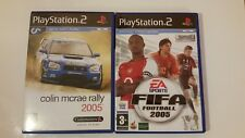 PLAYSTATION 2 GAME SET  FIFA FOOTBALL 2005 AND COLLIN MCRAE RALLY 2005 PS2 GAMES