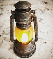 Mini Haunted House LED Flicker Flame 6 In Lantern Hurricane Rustic Decor Prop
