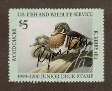 JDS7 Junior Duck Stamp.  Artist Signed Single.  MNH. OG.  #02 JDS7as